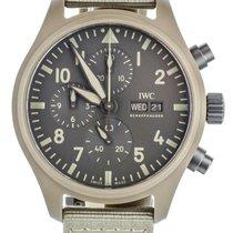 IWC Pilot Chronograph Top Gun pre-owned 44mm Grey Chronograph Date Textile