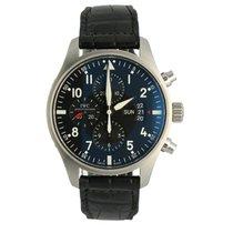 IWC Pilot Chronograph Staal 43mm Zwart Arabisch Nederland, 's Hertogenbosch