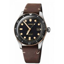 Oris Steel Automatic Black No numerals 42mm new Divers Sixty Five