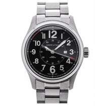 Hamilton Steel Automatic Black Arabic numerals 34mm new Khaki Field Officer