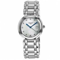 Longines PrimaLuna Steel 30mm Mother of pearl No numerals