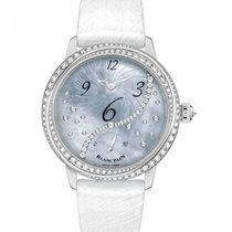 Blancpain Women White gold 37mm Mother of pearl Arabic numerals