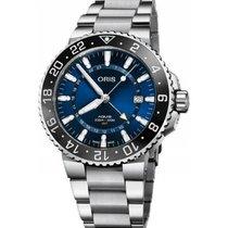 Oris Aquis GMT Date Steel 43.5mm Blue No numerals