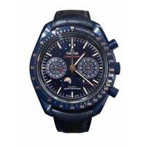 Omega Speedmaster Professional Moonwatch Moonphase Cerámica 44.2mm Azul Sin cifras