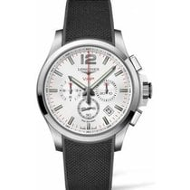 Longines Conquest Steel 44mm Silver Arabic numerals