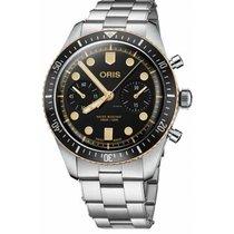 Oris Divers Sixty Five Steel 43mm Black No numerals