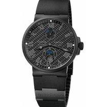 Ulysse Nardin Marine Chronometer 41mm новые 2020 Автоподзавод Часы с оригинальными документами и коробкой 263-66LE-3C/42-BLACK