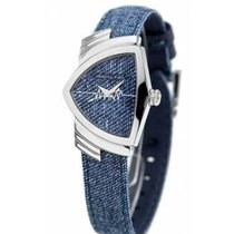Hamilton Ventura Steel 24mm Blue No numerals