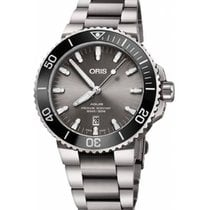 Oris Aquis Titanium Date Titanium 43.5mm Grey No numerals