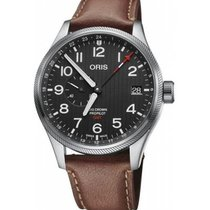 Oris Big Crown ProPilot GMT Acier 45mm Noir Arabes