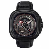 Sevenfriday P3-1 Stål 47mm Transparent Ingen tall