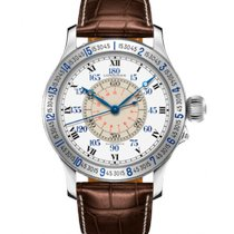 Longines Lindbergh Hour Angle Steel 47.5mm White Roman numerals