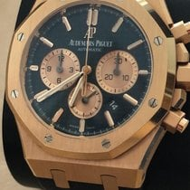Audemars Piguet Royal Oak Chronograph Oro rosa 41mm Azul Sin cifras