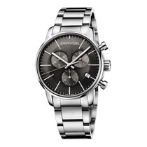 ck Calvin Klein Steel Ø 43mm Quartz K2G27143 new