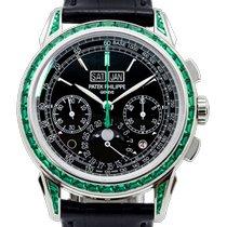 Patek Philippe Perpetual Calendar Chronograph Πλατίνα 41mm Μαύρο