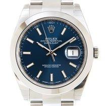 勞力士 Datejust 新的 自動發條 附正版包裝盒和原版文件的手錶 126300BL_O