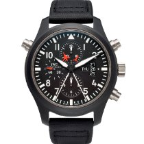 IWC Pilot Chronograph Top Gun pre-owned 46mm Black Chronograph Date Buckle