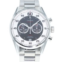 TAG Heuer Carrera Calibre 36 pre-owned 43mm White Date Steel