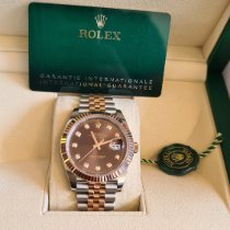 Rolex Datejust II Or/Acier 41mm Brun Sans chiffres France, Thonon les bains