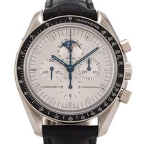Omega Speedmaster Professional Moonwatch Moonphase Oro blanco 42mm Plata Sin cifras