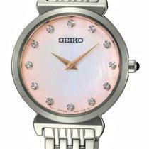 Seiko Reloj de dama 30mm Cuarzo nuevo Reloj con estuche original