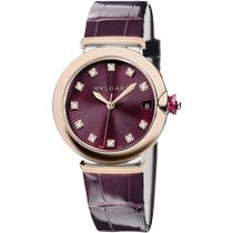 Bulgari Lucea Gold/Steel 36mm Purple No numerals