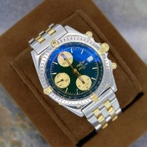 Breitling Chronomat Gold/Steel 39mm Green No numerals