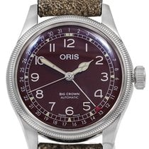 Oris Big Crown Pointer Date Acier 40mm Rouge Arabes