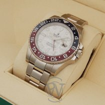 Rolex White gold Automatic Silver No numerals 40mm new GMT-Master II