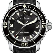Blancpain 5015-1130-52A Steel Fifty Fathoms 45mm pre-owned