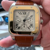Cartier Santos 100 Gold/Steel 42mm White Roman numerals United States of America, New Jersey, North Bergen
