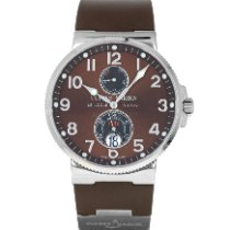 Ulysse Nardin Marine Chronometer 41mm Steel 41mm Brown Arabic numerals United States of America, Maryland, Baltimore, MD
