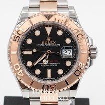 Rolex Yacht-Master 40 gebraucht 40mm Schwarz Datum Gold/Stahl
