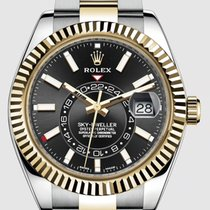 Rolex Sky-Dweller Gold/Steel 42mm Black No numerals United States of America, New Jersey, Totowa