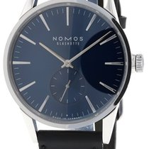 NOMOS Zürich pre-owned 39.7mm Blue Leather
