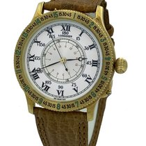Longines Yellow gold Automatic White Roman numerals 38mm new Lindbergh Hour Angle