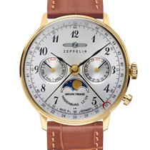 Zeppelin Reloj de dama 36mm Cuarzo nuevo Reloj con estuche y documentos originales