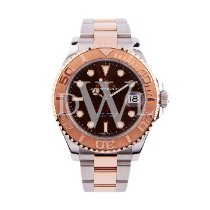 Rolex Yacht-Master 37 Gold/Steel 37mm Brown No numerals United Kingdom, London