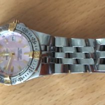 Breitling Starliner Gold/Steel 30mm Mother of pearl No numerals