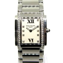 Patek Philippe Reloj de dama Twenty~4 25mm Cuarzo usados Reloj con estuche y documentos originales 2006