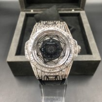 Hublot Big Bang Sang Bleu 415.CX.1114.VR.MXM17 18k gold customized full diamond 2017 pre-owned