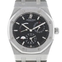 Audemars Piguet Royal Oak Dual Time Сталь 39mm Чёрный Без цифр