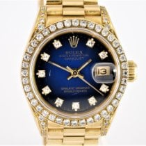 Rolex Lady-Datejust Yellow gold 26mm Blue No numerals