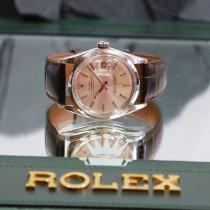 Rolex Datejust rabljen 36mm Srebro Datum, nadnevak Krokodilska koza