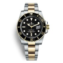 Rolex Submariner Date Gold/Steel 40mm Black No numerals