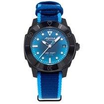 Alpina Plástico Automático Azul 36mm nuevo Seastrong