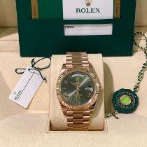 Rolex Day-Date 40 Roségold 40mm Grün Römisch Deutschland, Gießen