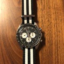 Omega Speedmaster Professional Moonwatch occasion 42mm Noir Chronographe Cuir