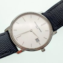 Frederique Constant Slimline pre-owned 39mm Silver Date Leather