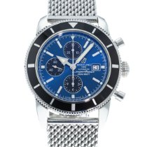 Breitling Superocean Héritage Chronograph pre-owned 46mm Blue Date Steel